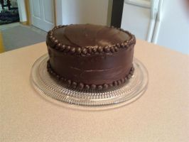 Triple Chocolate Cake by BluestOfBirds
