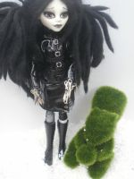 monster high custom Edward Scissorhands daughter by Rach-Hells-Dollhaus
