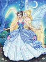 Cinderella and the fairy god mother by snuapril01