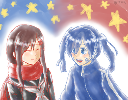 Red and Blue by xX0Tsubasa0Xx