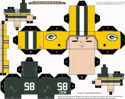 Max McGee Packers Cubee by etchings13