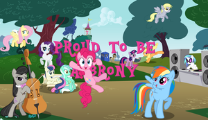 Proud To Be A Brony Wallpaper By Fluttershy005 by Fluttershy-the-Spy