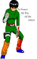Rock Lee-way of the ninja by TheGeckoNinja