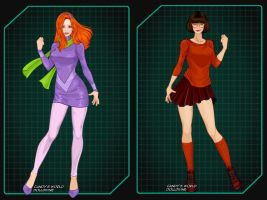 Scooby Doo Ladies by autumnrose83