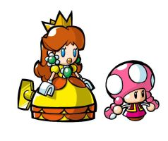 mini Daisy n Toadette :edited: by DaisyDrawer