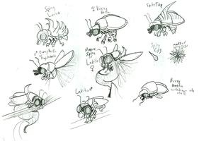Super Mario baddies: Buzzy Beetles and Lakitus by mortimermcmirestinks