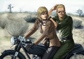 Commission - Eva and Kaz by muepin