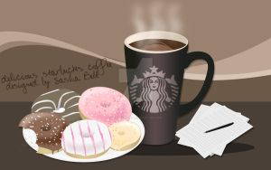 Starbucks Coffee And Donuts by thesashabell