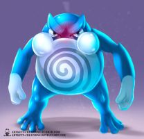 Kanto - Poliwrath by ArtKitt-Creations