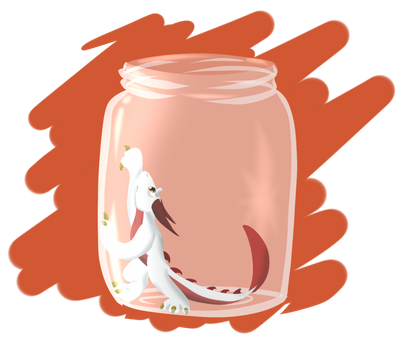 Dragon in jar {contest} by WingedWilly