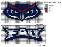 Florida Atlantic Owls by cdbvulpix