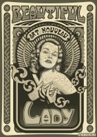 Art Nouveau lady by roberlan