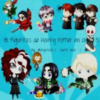 18 chibis Harry Potter PNG/18 figures chibis HP by MagiieGiin