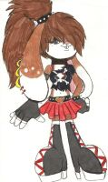 Diliela in her punk look by Ponyness1