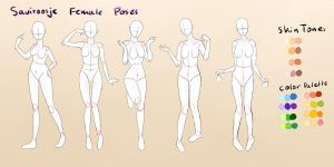 .Female Pose Reference. by Saviroosje
