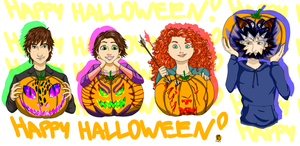Big4 Happy (pumpkin) Halloween! by loveHinaSasu