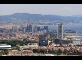 Barcelona cityline by mysterious-one