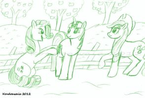 Hanging Out at Sweet Apple Acres by KoudoawaiaVortex