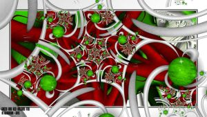 UF Chain Pong 270-Green and Red Holiday Fun by miincdesign