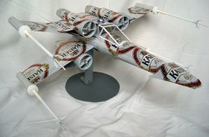 star wars x-wing beer can by tamas kanya by tom-tom1969