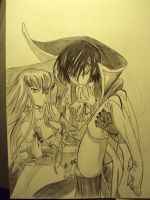C.C. and Lelouch by supercli