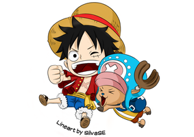 Luffy and Chopper by Goldfish-24-7