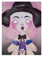pink witch by l0ll3