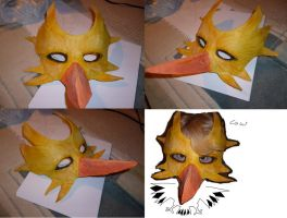Zapdos mask by mechanicalmasochist