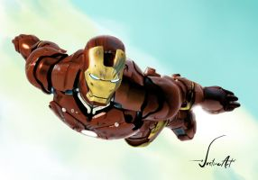Digital Painting: IRONMAN by JustineArt