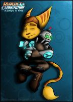 Ratchet and Clank Hug by RatchetMario