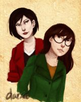 Daria Morgendorfer and Jane Lane by adeleane