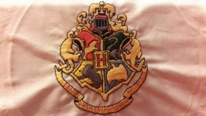Embroidered Hogwarts logo by PrincessAurora1000