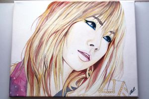 CL -- 2NE1 Painting Fanart by antuyetlai
