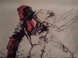 Hellboy.. by ladyjart