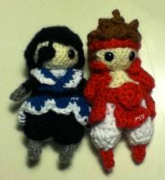 Crochet Cuties: Date Masamune and Sanada Yukimura by Yarn-and-Ink
