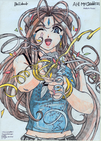 Belldandy - Ah! My Goddess! by BlackLeatheredOokami