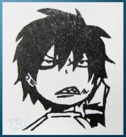 Ao no Exorcist Rin stamp by Tsurera