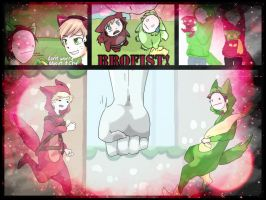 Cry and Pewdie play Bloody Trapland Collage by BloodRedStrider