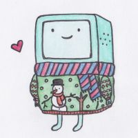 Christmassy BMO by sophiemai