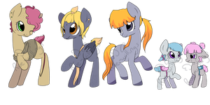 Pony Designs - 4 - Three Avalible by Rue-Willings