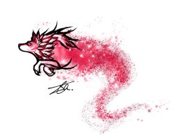 Blossom Wolf by NienorGreenfield