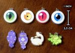 Eyeball charms available! by NightmareHound