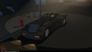 Batman: The Animated Series Batmobile by Volatile-Vertex