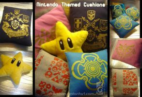 Nintendo themed Cushions by eERIechan