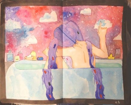 Galaxies in my hands by NausicaaGhibli