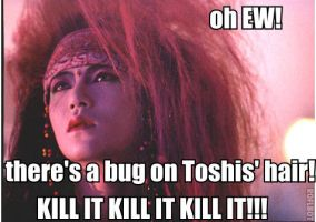 There's a bug in Toshis hair by Lover-From-Hell