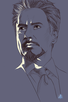 RDJ/Iron Man sketch by InvisibleRainArt