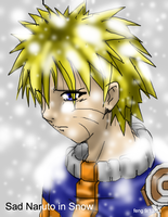 Sad Naruto in Snow by Feng-Huang