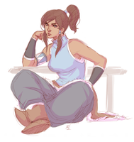 Korra Doodle by kathrynlayno