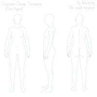 Character Design Template (Pear Figure) by Binkatong